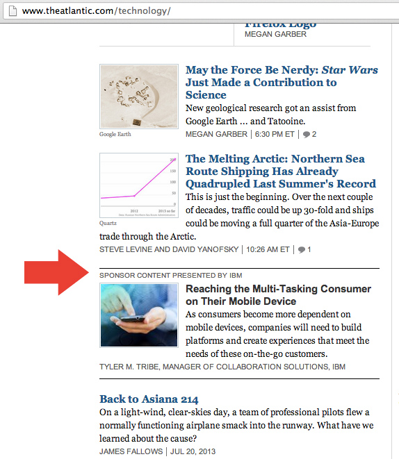The Atlantic has In Stream Ads